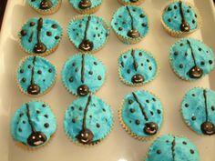 muffins mariquita turquesa