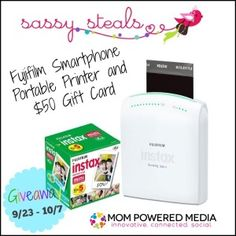 Fujifilm Smartphone Portable Printer and $50 Gift Card 10/07 - Tales From A Southern Mom