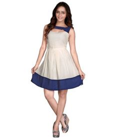Georgeous White And Blue Georgette Kurti.