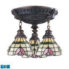 Elk Lighting, 997-AW-09-LED, Flush Mount Lighting, Elk Lighting Mix N Match Semi Flush In Aged Walnut 997 Aw 09 Led