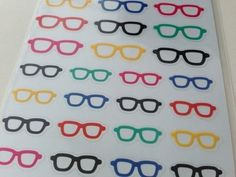 Diary Seal Cute Stickers | Glasses: http://www.stationeryheaven.nl/stickers