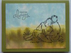 Bokeh watercolored anniversary card (SU Summer by the Sea)