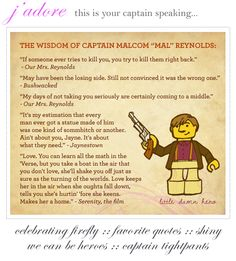{ the jaunty magpie } More #Firefly love - favorite quotes to live by!