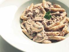 Romige tonijn champignon pasta