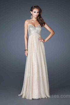 Chiffon Sweetheart No Waist/Princess Seams Sleeveless A-Line Evening Dress ykdress5261 Discover and share your fashion ideas on misspool.com