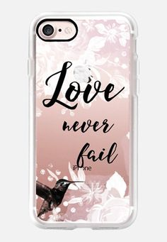 Casetify iPhone 7 Classic Grip Case - Love Never Fail IV by Li Zamperini Art #Casetify