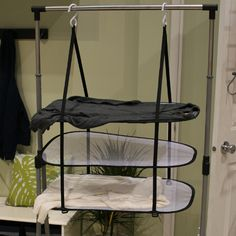 If you're home is space-starved, you likely don't have the room for bulky racks to flat dry your delicate sweaters. To the rescue: The Hanging Sweater Dyer (8 dollars, amazon.com) from Homz. This product is deceptively simple — it's just three flat-dry racks suspended from two hooks you can hang from your shower rod — but it's a clever way to maximize the drying space in your home.