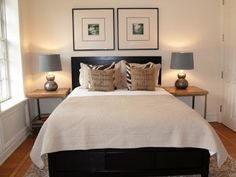 Share Little-Known Secrets to Small Guest Bedroom Design If your bedroom is the sole space in your house that you are able to fit in an office, then concealing it could be a great alternative. A white-themed bedroom appears … Small Bedroom Ideas On A Budget, Small Guest Rooms, Small Bedroom Designs, Small Room Design, Guest Bedrooms, Master Bedroom, Bedroom Small, Stylish Bedroom, Narrow Bedroom