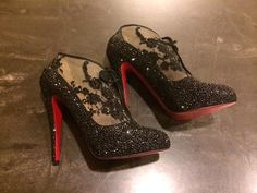 Sworovski  Louboutins  By Ice Diva Designs