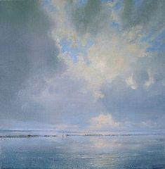Painting Skies with Janhendrik Dolsma Abstract Watercolor, Watercolor Paintings, Abstract Art, Landscape Art, Landscape Paintings, Sky Sea, Sea Art, Photorealism, Sky And Clouds