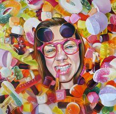 """""""JOY"""", my latest oil painting, 80cm x 80cm.  http://www.justynakisielewicz.com"""
