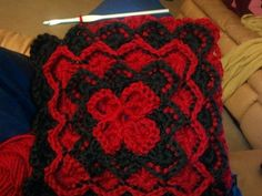 working on a blanket