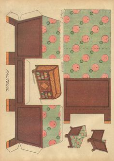 Doll's ouse furniture via  ilfavolosomondodicartaditoto.blogspot.com/2010/06/una-poltrona.html