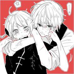 Sougo Okita x Kagura [OkiKagu], Gintama Manga Couple, Anime Love Couple, Cute Anime Couples, Anime Kawaii, Kawaii Cute, Anime Guys, Manga Anime, Okikagu, Anime Couples Drawings