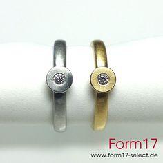 Platin 950 / Gold 18K Brillant - Form17 SchmuckManufaktur