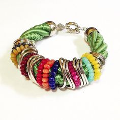 Multicolored Bracelet by AtelierBiaCarvalhaes on Etsy