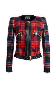 Chanellina Tartan Jacket by Fausto Puglisi 3903a7c2e3b