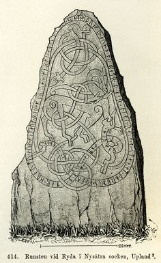 Runestone from Ryda, Nysätra parish, Sweden. Viking Images, Viking Pictures, Art Viking, Viking Runes, Vikings Time, Norse Vikings, Viking Pattern, Viking Designs, Viking Culture