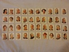 CIGARETTE CARDS BY WILL'S FAMOUS BRITISH AUTHORS FULL SET #Wills