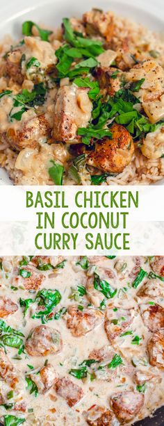 Coconut Curry Sauce, Thai Coconut Curry Chicken, Thai Basil Chicken, Best Chicken Curry Recipe, Cooking Recipes, Healthy Recipes, Oven Recipes, Healthy Meals, Simply Recipes