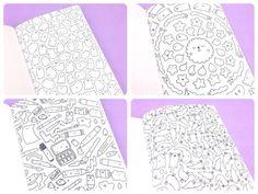 KiraKira Coloring Book Kawaii Doodle Coloring by KiraKiraDoodles