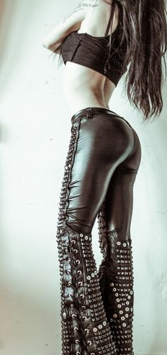 TOXIC VISION Artillery studded leather pants — Toxic Vision