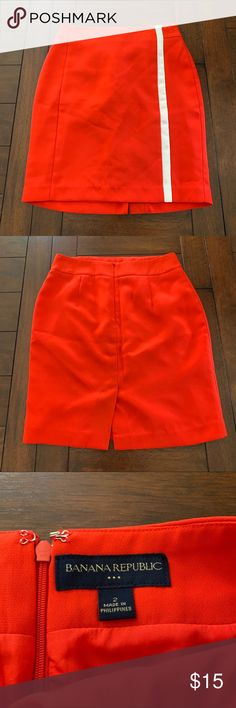 bf4f23e54c Banana Republic | Red Pencil Skirt Red (slightly orange/red) pencil skirt  with
