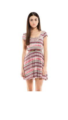 Etnical Color Dress bershka