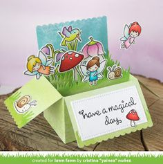the Lawn Fawn blog: Lawn Fawn Video {4.28.17} A Fairy Garden Pop-up Card by Yainea!