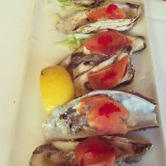Alaskan oysters with smoked salmon & roe. Photo taken by ~SMS 2013~