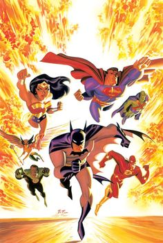 By: Bruce Timm. This is the show I remmember!! The justice league I grew up with!!!