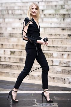 Elena Perminova - Paris Fall 2016 Couture Fashion Week Street Style - July 2016