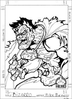 As a part of my exclusive Mikey Bencic collector Card Action GO Super Deluxe Series, #BIZZARO of #Superman fame represents just 1 of 100 delicious cards! Enjoy fellow fans and nerds!