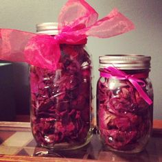 Dried rose petals from engagement