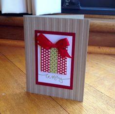 Christmas washi tape card