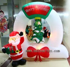 Nice Inflatable Snowman+inflatable Santa Claus+inflatable Christmas Decoration+ Inflatables+free Shipping $353.00