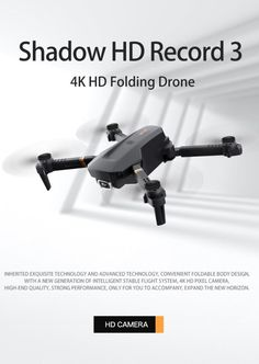 Folding Drone, Flight Speed, Small Drones, Drone Quadcopter, 4k Hd, Wide Angle, Wifi, Hold On, Arquitetura