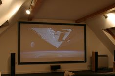 Our home cinema in the annexe
