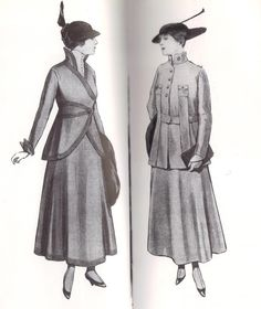 1915 - day wear in war time in la Mode Pratique