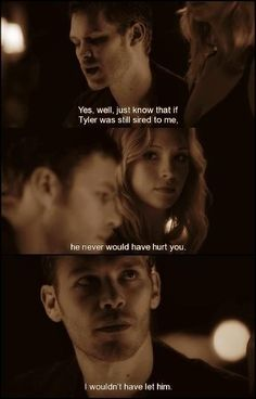 ;( I love Klaus even though he's evil.