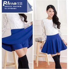 Inset Shorts Ruffled Mini Skirt ($7.92) ❤ liked on Polyvore featuring skirts, mini skirts, short ruffle skirt, short frilly skirt, blue mini skirt, blue skirt and blue ruffle skirt