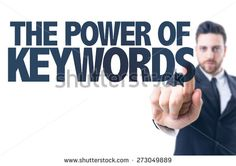 Business man pointing the text: The Power of Keywords - stock photo