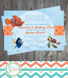 Beautiful Finding Nemo Baby Shower Invitation And 50 Similar Items