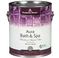 Aura Bath and Spa Paint by Benjamin Moore - Matte Finish (great for plaster walls)