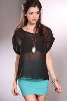 Hey ladies are you going on a picnic or a nice outing with your family and want to wear something that is comfortable? Well this top will be perfect for you. It features sheer chiffon fabric, scoop neckline, short sleeves, back collar sash tie, and its loose fitted. Model is wearing a small. 100% polyester.