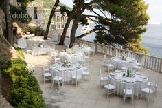 White Chiavari chairs – first time in Dubrovnik on Haya and Gilbert's wedding!