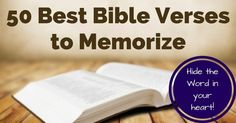 Want to memorize more Scripture? Here's an awesome list of 50 Bible verses to memorize to start, divided by topic.