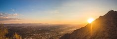 Looking out over Phoenix AZ. from Camel back Mountain. [OC] [6537  2241]