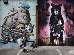 Gb, una galleria a cielo aperto: la street art colora Blackpool Street Art Utopia, Arty Fashion, Manchester Art, French Street, Blackpool, Foo Fighters, Arts And Entertainment, Art Festival, Street Artists