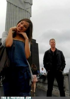 That awesome moment when James Hetfield photobombs you.
